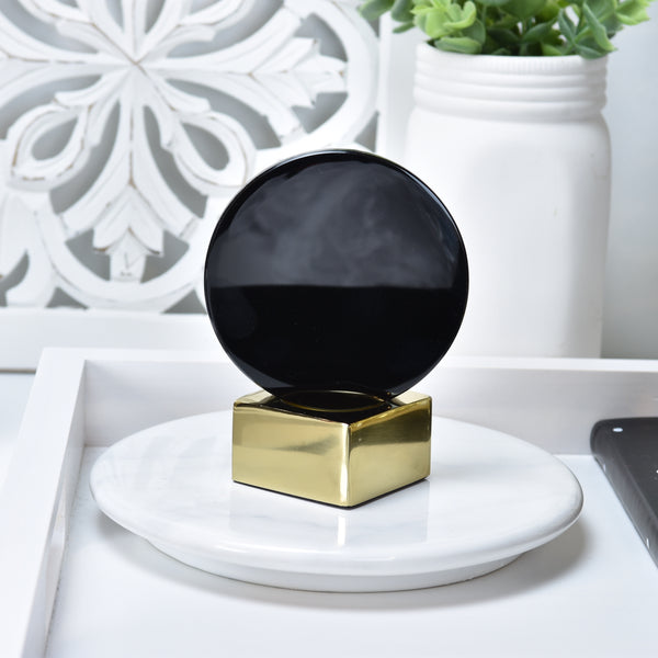 Black Obsidian Mirror