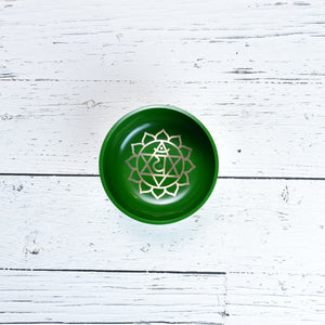 Singing Bowl Gift Set Green/Heart Medium.