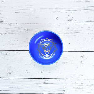 Singing Bowl Gift Set Blue/Throat Medium.