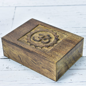 Wooden Box | Om Symbol Wood Box