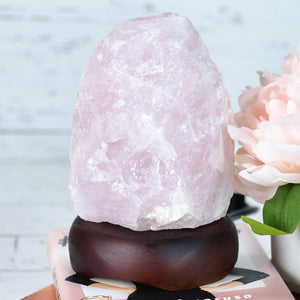 Rose Quartz Crystal Lamp