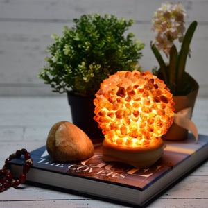 Citrine Crystal Lamp