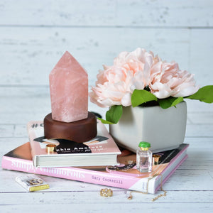 Rose Quartz Point Lamp
