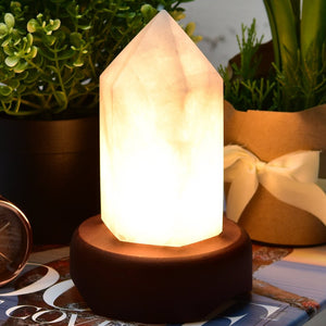 Clear Quartz Point Lamp.