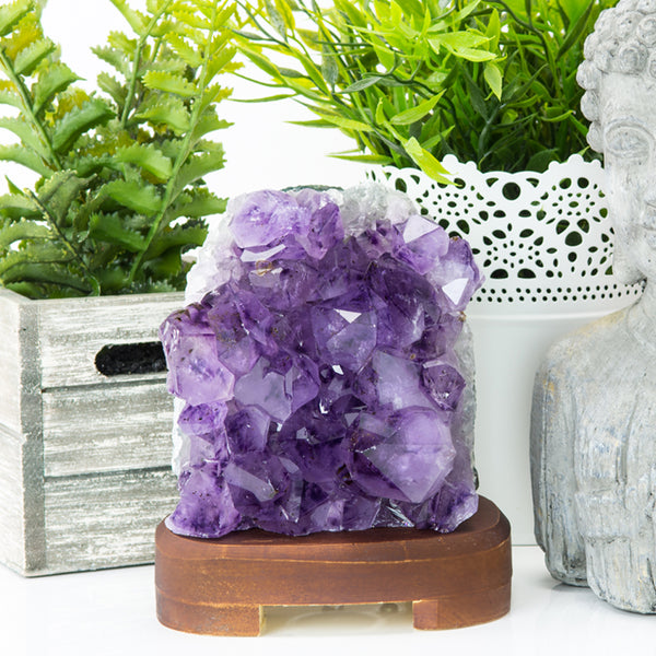 Amethyst Crystal Lamp.
