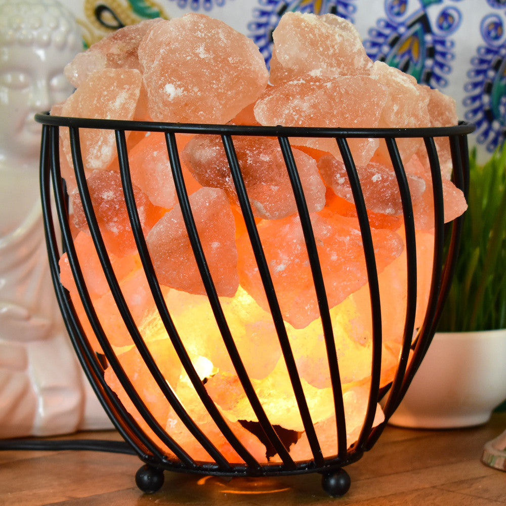 Salt Lamps Placement : Raw White Salt Crystal Lamp - Yellow Tree Company