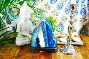 Blue Agate Lamp.