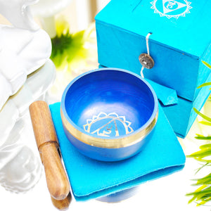 Singing Bowl Gift Set Blue/Throat.