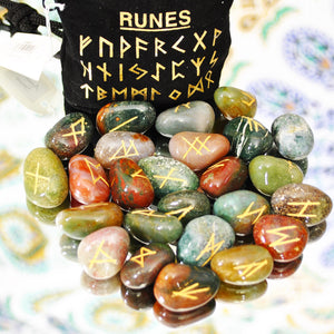 Blood Stone Rune Stone Set