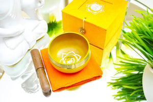 Singing Bowl Gift Set Orange/Sacral.