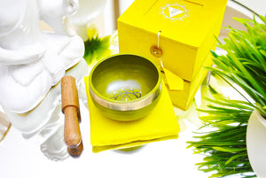 Singing Bowl Gift Set Yellow/Solar Plexus.