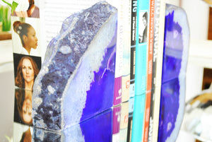 Purple Agate Bookends