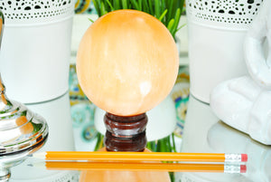 Orange Selenite Crystal Sphere