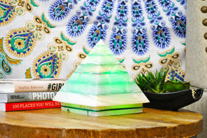 Color Therapy Pyramid Lamp ~ Green
