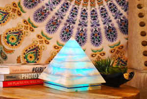 Color Therapy Pyramid Lamp ~ Blue