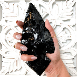 Black Obsidian Arrowhead Large