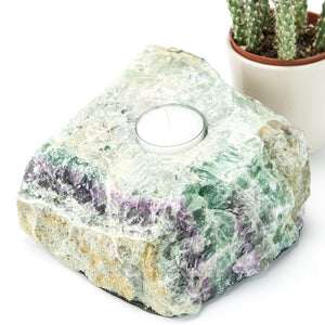 Fluorite Natural Candle Holder