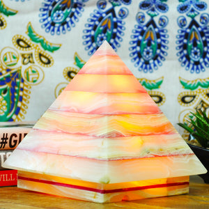 Color Therapy Pyramid Lamp ~ Red