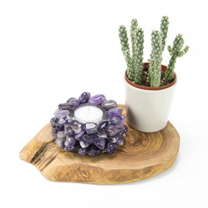 Amethyst Candle Holder (Tumble)