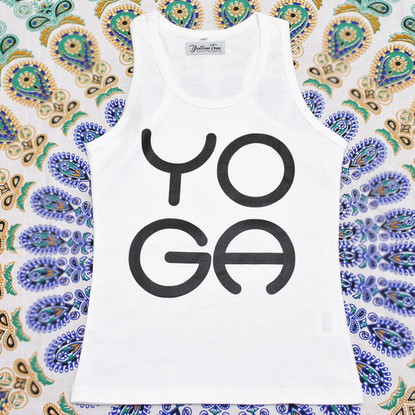 White Tank Top ~ YOGA