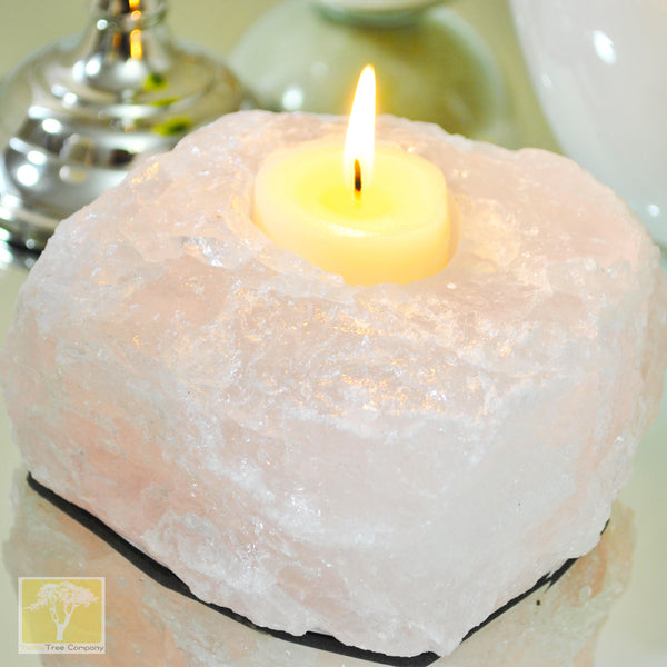 Rose Quartz TeaLight Candle Holder