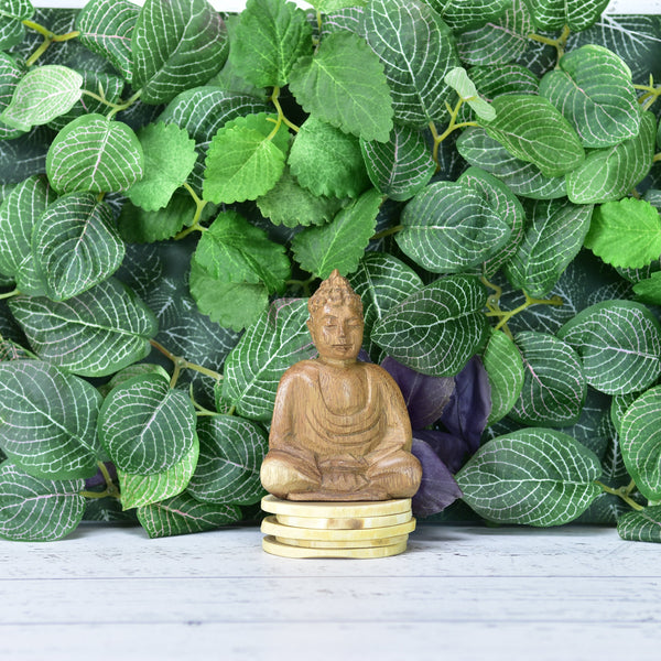 Wooden Meditation Buddha