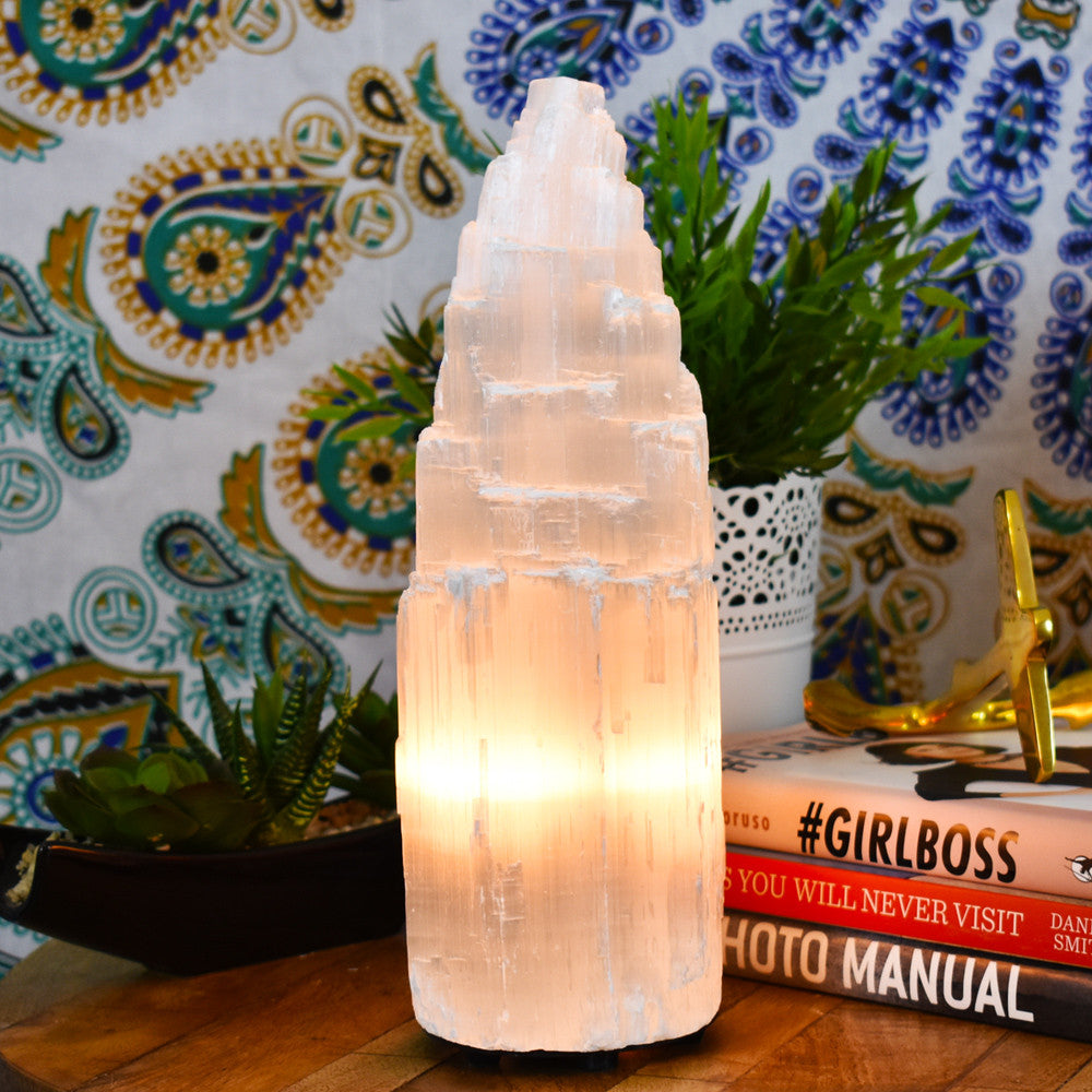 Great Selenite Crystal Lamp