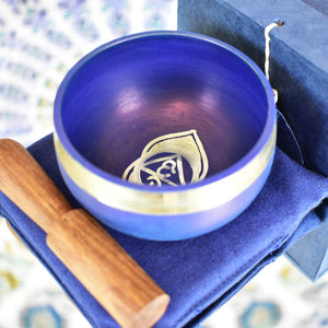 Singing Bowl Gift Set Cobalt/Third Eye