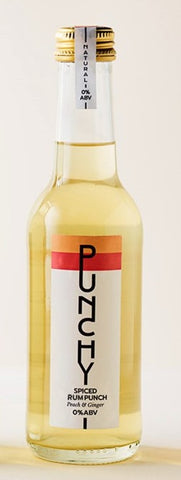 Punchy 0% Peach and Ginger Spiced Rum Punch (12x275ml)