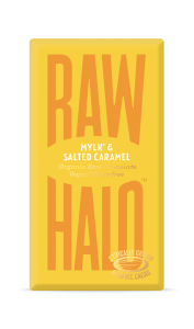 Raw Halo Mylk & Salted Caramel ORG Raw Choc (10x35g)