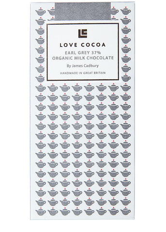 Love Cocoa Earl Grey 41% Organic Milk Chocolate Bar (12 x 75g)