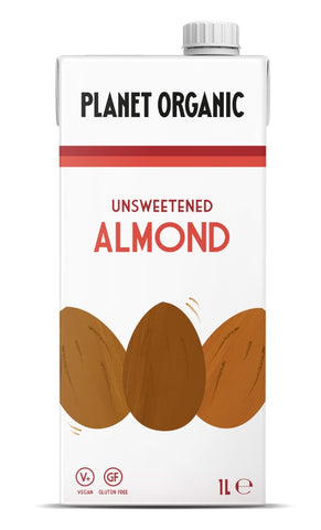 Planet Organic Unsweetened Almond Drink (6x1L)