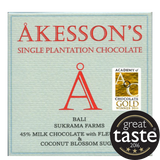 Akesson 45% Milk Chocolate with Fleur de Sel & Coconut Blossom Sugar - Bali (12x60g)