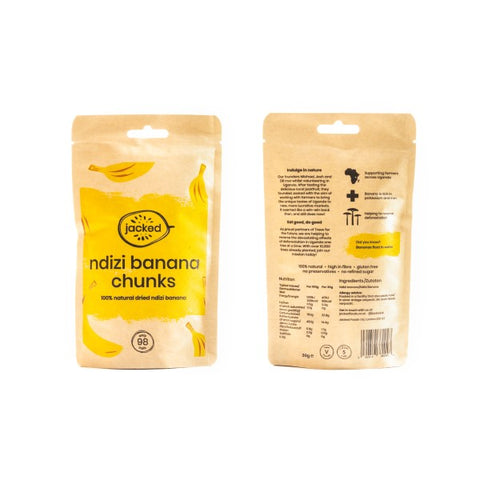 Jacked Foods Ndizi Banana Chunks (12 x 30g)