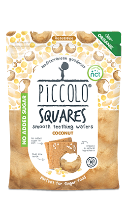 Piccolo Foods Organic Square Coconut - Teething wafers (4 pack)