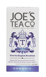 Joe's Tea Co Ever-So-English Breakfast  (6x15 bags)