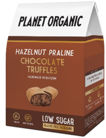 Planet Organic Low Sugar Hazelnut Truffle (6x80g)