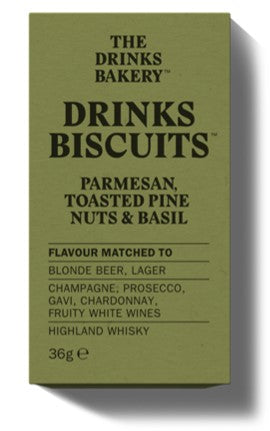 The Drinks Bakery Parmesan Toasted Pine Nuts & Basil 'Luxury Sharing Pack' (14x110g)