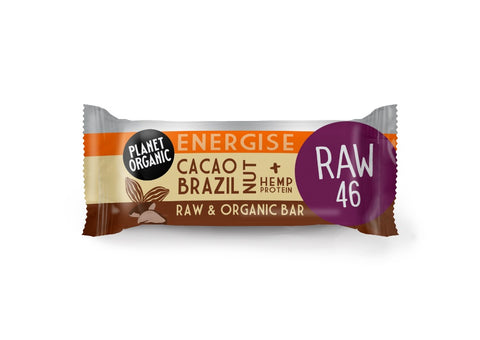 Planet Organic Cacao Brazil Nut Energise Bar (20x30g)