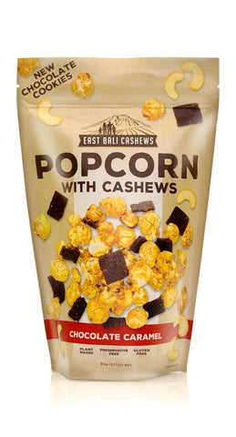 East Bali Cashews - Popcorn - Chocolate Caramel (10x90g)