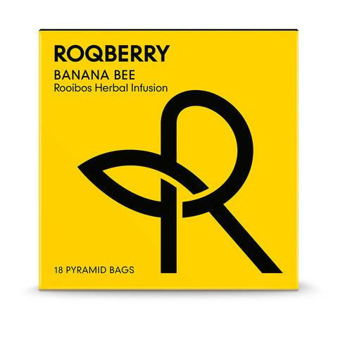 Roqberry Banana Bee - Rooibos Herbal Infusion - 18 Bags (6x45g)