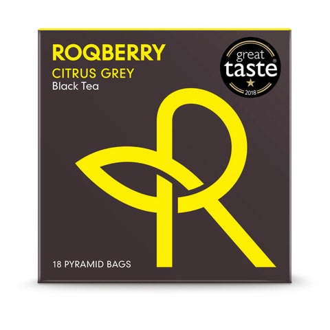 Roqberry Citrus Grey - Black Tea - 18 Bags (6x45g)
