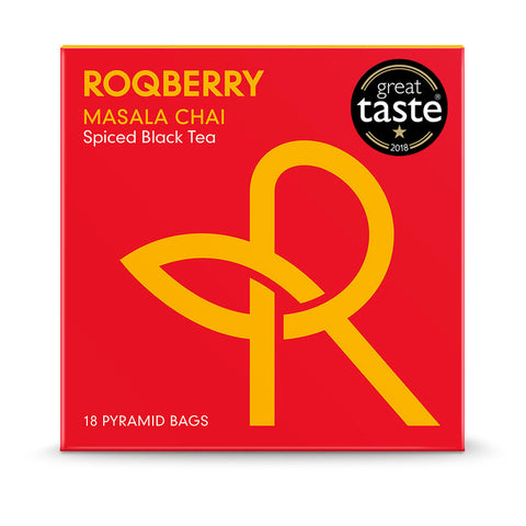 Roqberry Masala Chai - Spiced Black Tea - 18 Bags (6x54g)