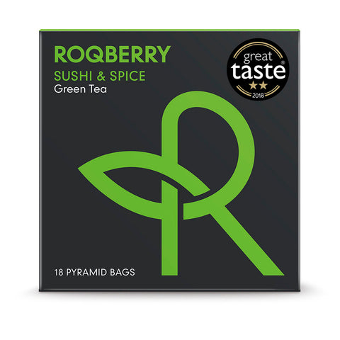Roqberry Sushi & Spice - Green Tea - 18 Bags (6x45g)