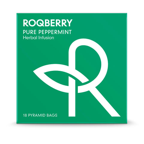 Roqberry Pure Peppermint - Herbal Infusion - 18 Bags (6x36g)