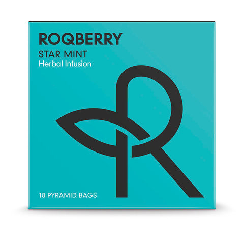 Roqberry Star Mint - Herbal Infusion - 18 Bags (6x45g)