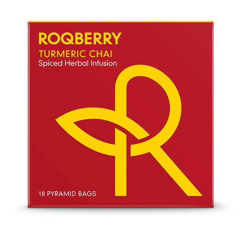 Roqberry Turmeric Chai - Spiced Herbal Infusion - 18 Bags (6x54g)