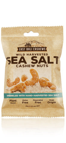 East Bali Cashews - Cashew Nuts - Sea Salt (10x35g)