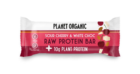 Planet Organic Raw Protein Bar White Choc Chip & Sour Cherry (14x50g)