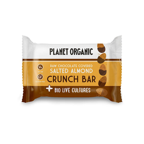 Planet Organic Seed Bar Salted Almond Biolive Choc Crunch (20x40g)